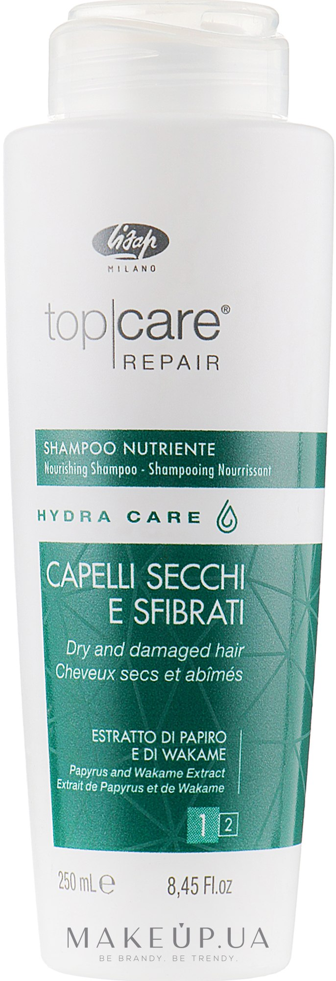 Интенсивный питающий шампунь - Lisap Top Care Repair Hydra Care Nourishing Shampoo — фото 250ml