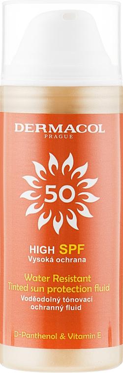 Водостойкий солнцезащитный тонирующий флюид - Dermacol Sun Tinted Water Resistant Fluid SPF50