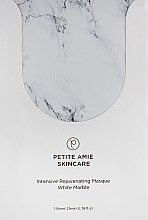 Духи, Парфюмерия, косметика Мраморная маска для лица «Антивозрастная» - Petite Amie Intensive Rejuvenating Masque, White Marble