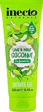 Духи, Парфюмерия, косметика Гель для душа с кокосом, лимоном и мятой - Inecto Naturals Lime & Mint Coconut Shower Gel