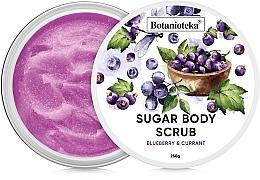 """Духи, Парфюмерия, косметика Сахарный скраб для тела """"Черника и смородина"""" - Botanioteka Sugar Body Scrub Blueberry & Currant"""