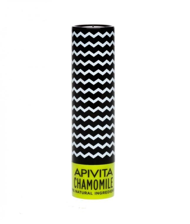 Бальзам для губ SPF 15, с пчелиным воском и ромашкой - Apivita Lip Care with Chamomile SPF 15