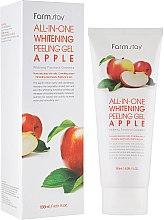 Духи, Парфюмерия, косметика Яблочная пилинг-скатка для лица - FarmStay All-In-One Whitening Peeling Gel Cream Apple