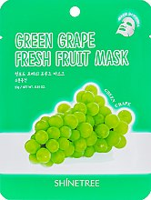 Духи, Парфюмерия, косметика Маска для лица с экстрактом зеленого винограда - Shinetree Green Grape Fresh Fruit Mask