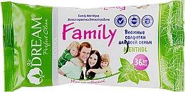 Духи, Парфюмерия, косметика Влажные салфетки для всей семьи, 36 шт. - Air Dream Family Mentol
