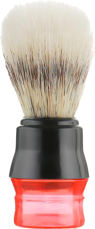 Помазок для бритья, пластмассовый, красно-черный - Inter-Vion