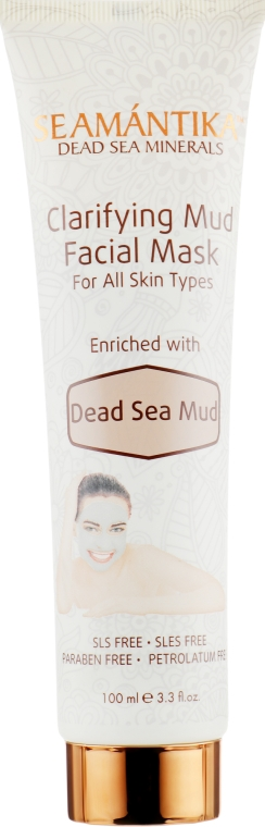 Грязевая маска для лица с грязью Мертвого моря - Seamantika Clarifying Mud Facial Mask Dead Sea Mud — фото N2