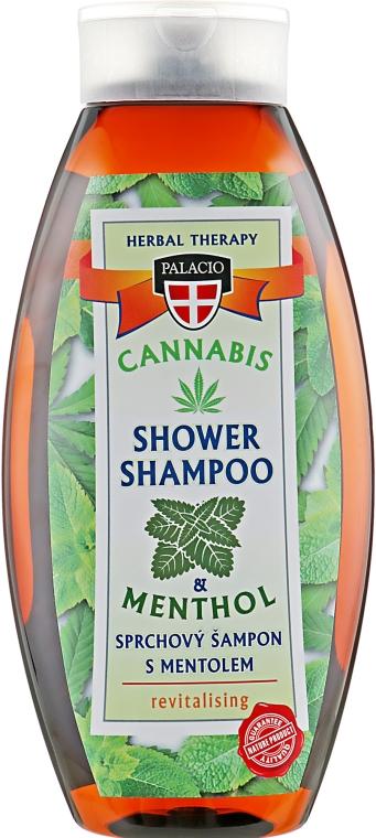 Шампунь для волос с экстрактом масла конопли и ментолом - Palacio Cannabis Menthol Hair Shampoo