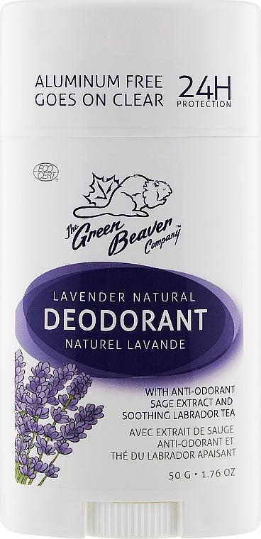 Дезодорант с ароматом лаванды - Green Beaver Lavender Deodorant
