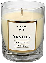 Духи, Парфюмерия, косметика Декоративная свеча в стакане, 8х9.5 см - Artman Classic Vanilla