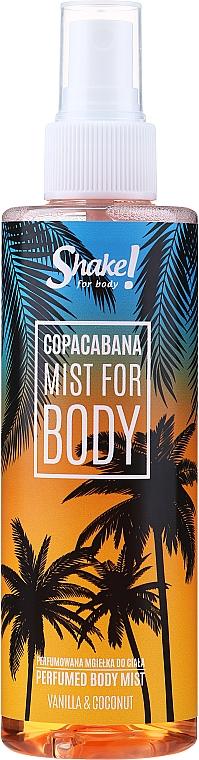 Shake for Body Perfumed Body Mist Copacabana Vanilla & Coconut - Парфюмированный мист для тела