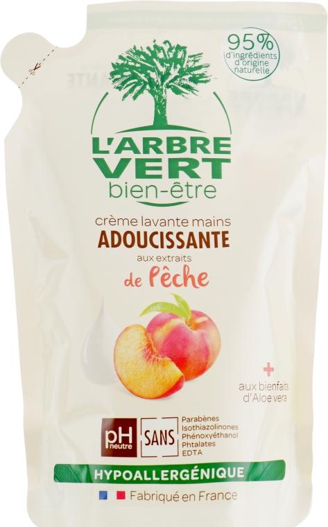 """Крем-мыло для рук """"Персик"""" - L'Arbre Vert Hand Wash Peach Bio (дой-пак)"""