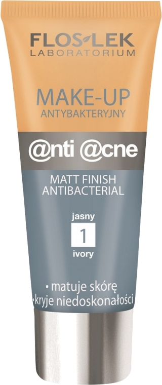 Антибактериальный матирующий тонирующий крем - Floslek Anti Acne Make Up — фото N1