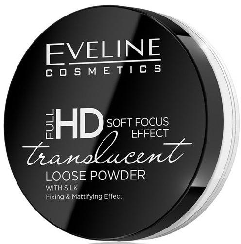 Рассыпчатая пудра для лица - Eveline Cosmetics Full HD Soft Focus Transparent Loose Powder