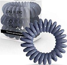 Духи, Парфюмерия, косметика Резинки для волос - Joko Blend Power Bobble Gray-Blue Mix