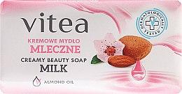 Духи, Парфюмерия, косметика Крем-мыло молочное с маслом миндаля - Vitea Cream Soap