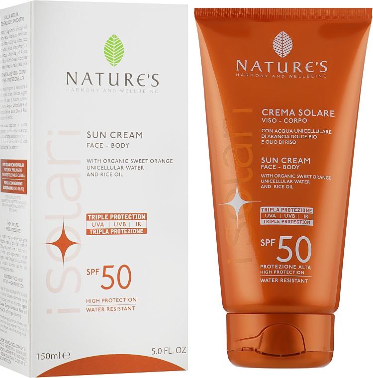 Солнцезащитный крем для лица и тела - Nature's Face Body Sun Cream SPF 50