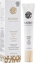 Духи, Парфюмерия, косметика Восстанавливающий крем-антиоксидант для контура глаз без отдушки - Naobay Antiox Eye Contour Cream