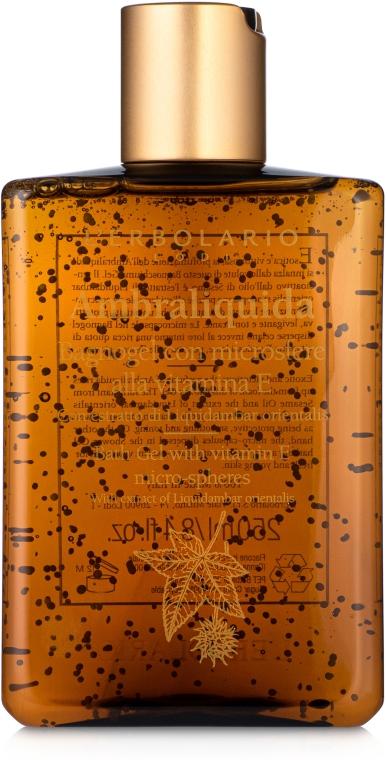 Гель для душа на основе лёгкой амбры с витамином Е - L'Erbolario Bagnogel Ambraliquid