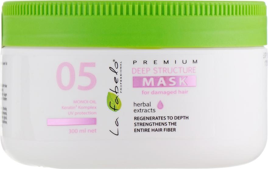 Маска глубоко структуризирующая для поврежденных и жирных волос - La Fabelo Premium 05 Deep Structure Mask