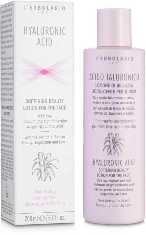 Смягчающий лосьон для лица с гиалуроновой кислотой для нормальной и сухой кожи - L'Erbolario Acido Ialuronico Lozione di Bellezza Addolcente Per Il Viso