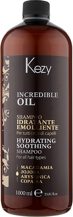 Шампунь увлажняющий и разглаживающий для волос - Kezy Incredible Oil Hydrating Shampoo
