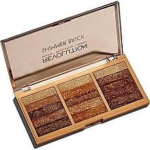 Духи, Парфюмерия, косметика Палетка шиммеров для лица - Makeup Revolution Shimmer Brick Palette