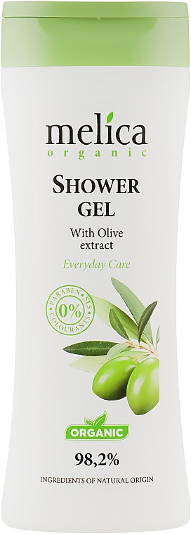 Гель для душа с экстрактом оливы - Melica Organic Shower Gel