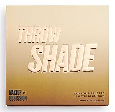 Духи, Парфюмерия, косметика Палетка для контуринга - Makeup Obsession Throw Shade Contour Palette