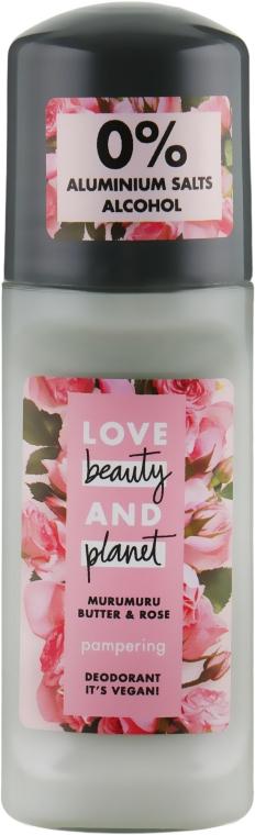 """Дезодорант шариковый """"Масло розы и мурумуру"""" - Love Beauty&Planet"""